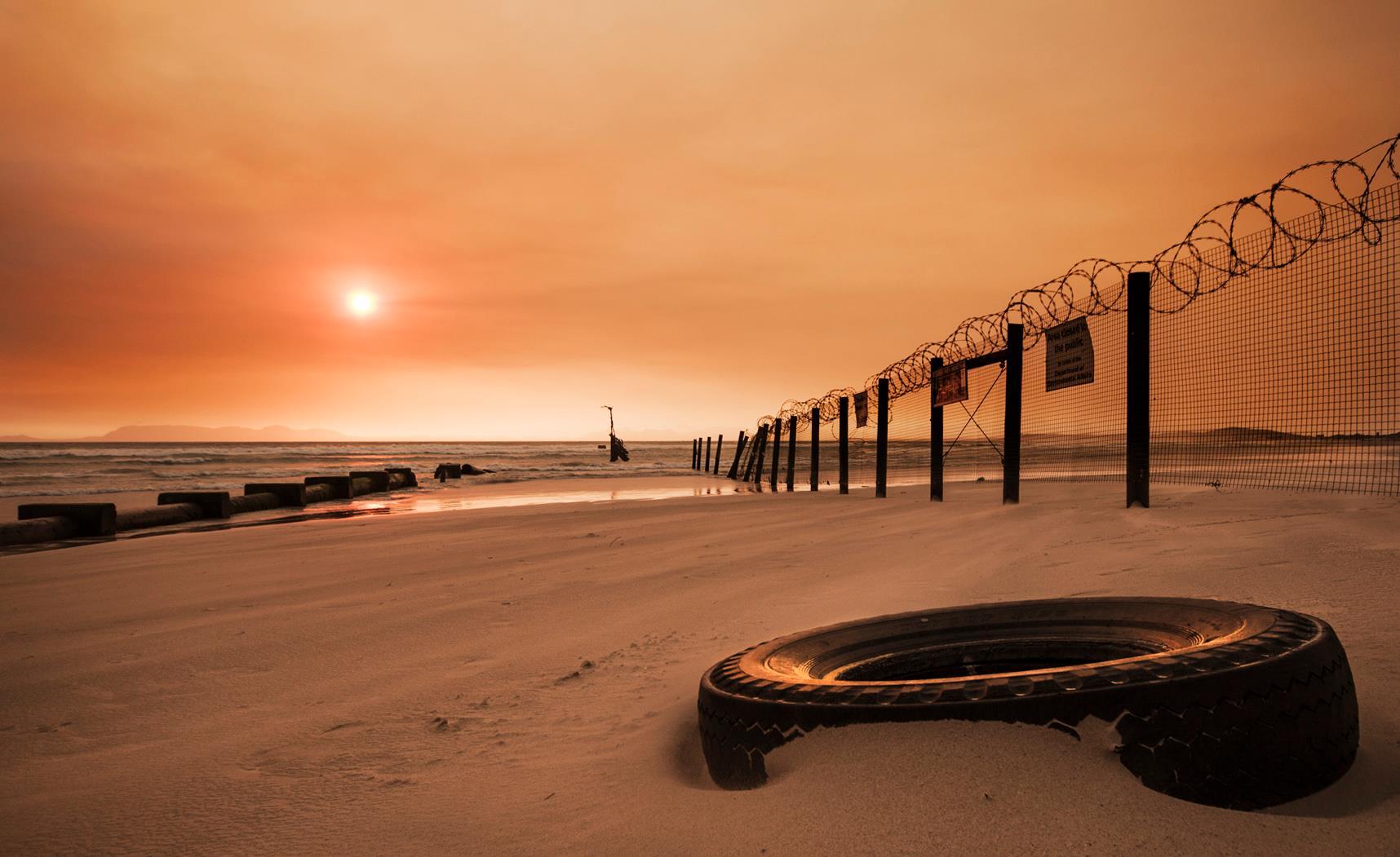 fire-smoke-sunset
