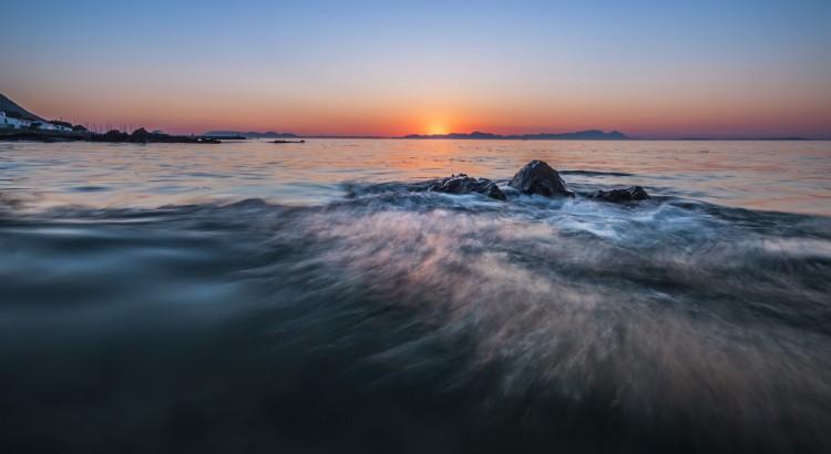 sunset gordons bay beach