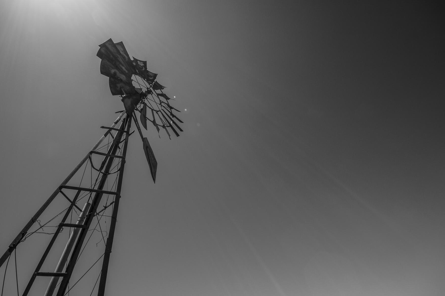 windmill-bw