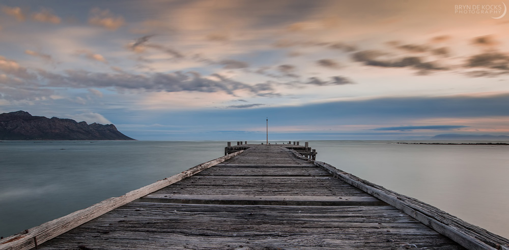 Jetty and cloud movement