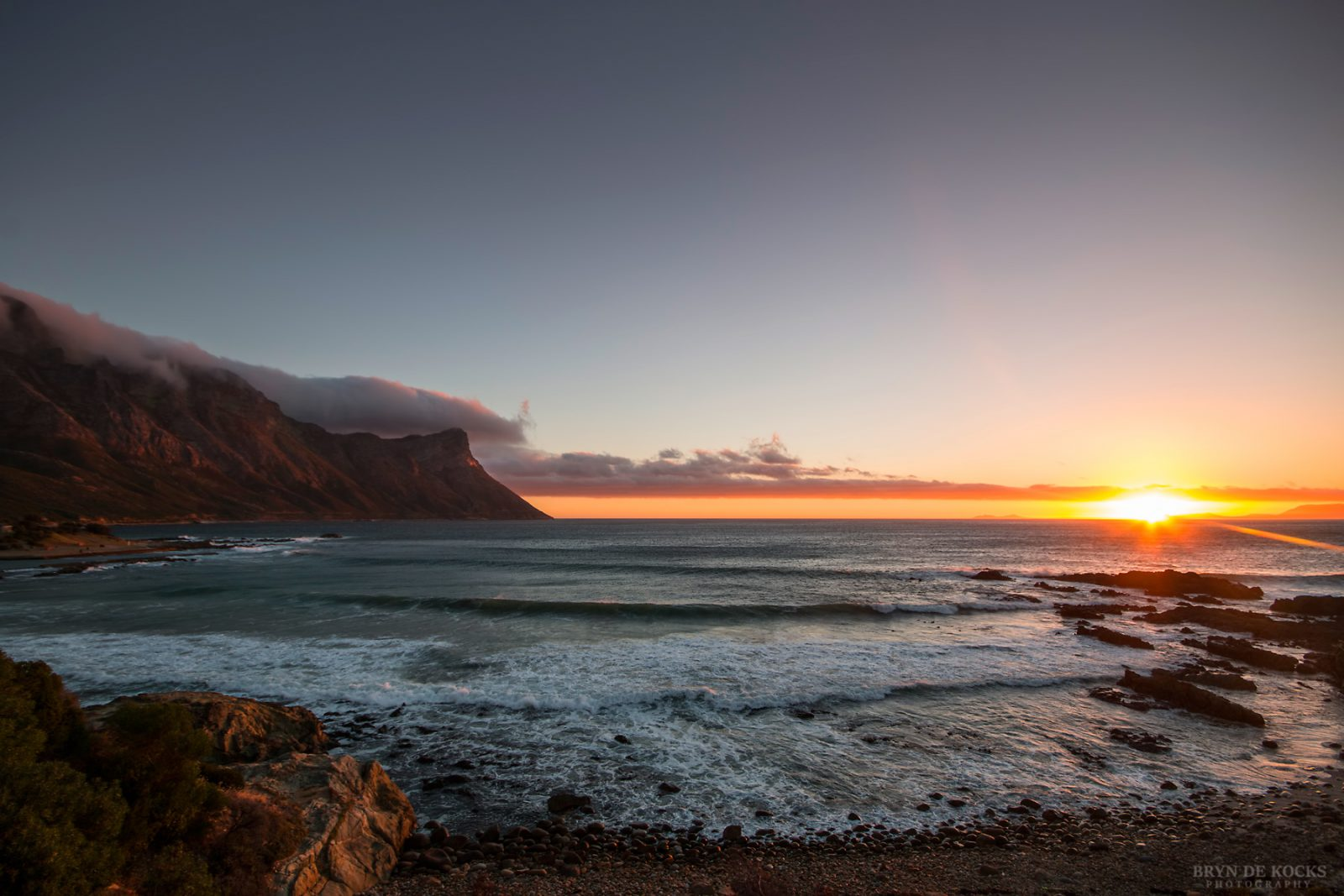 Kogelbaai Sunset Facing West