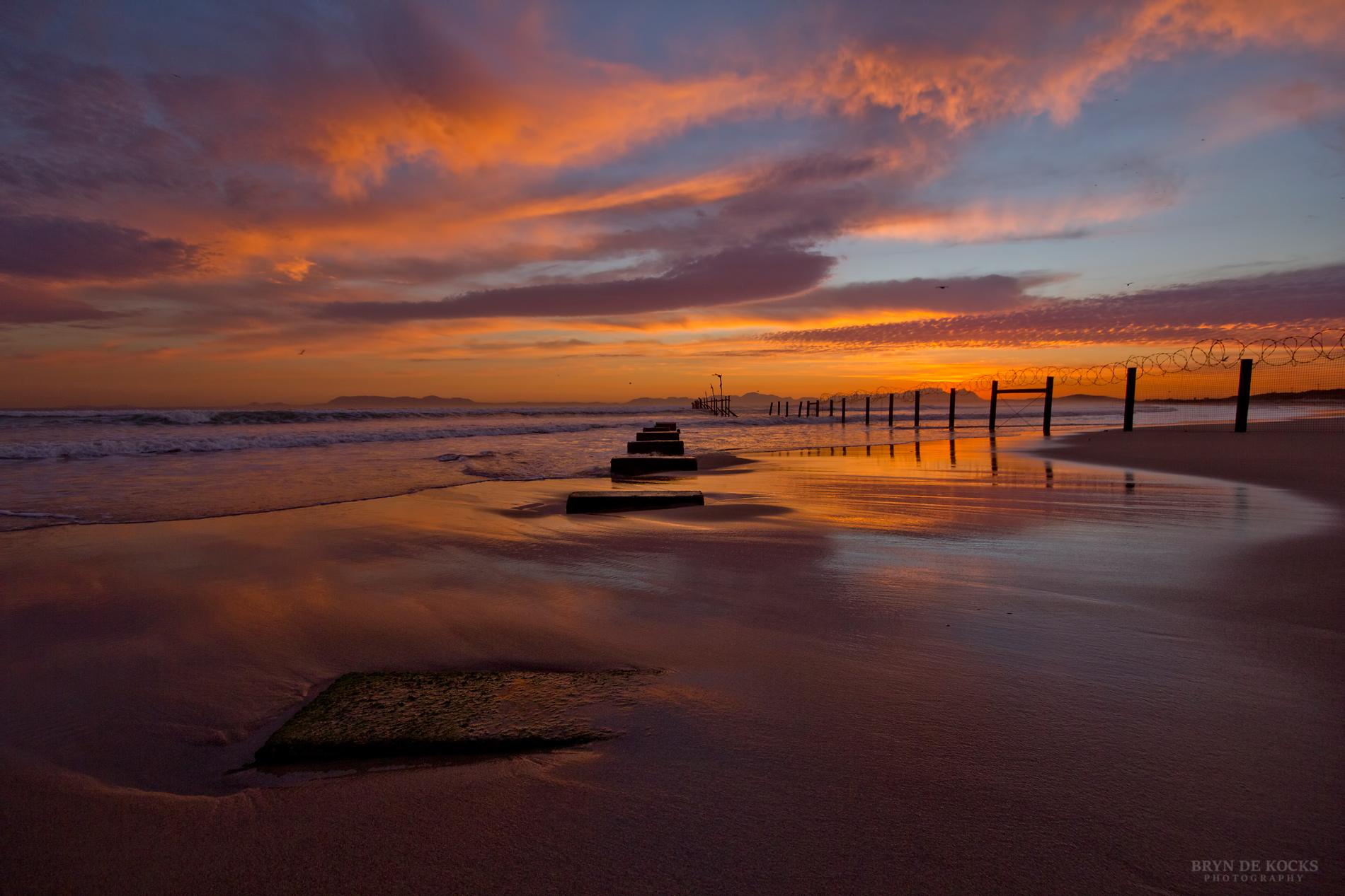 Bright Sunset at Beach