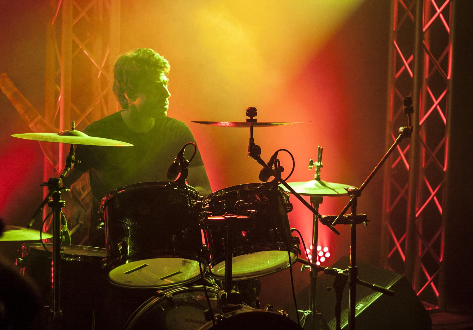 Drummer at live show