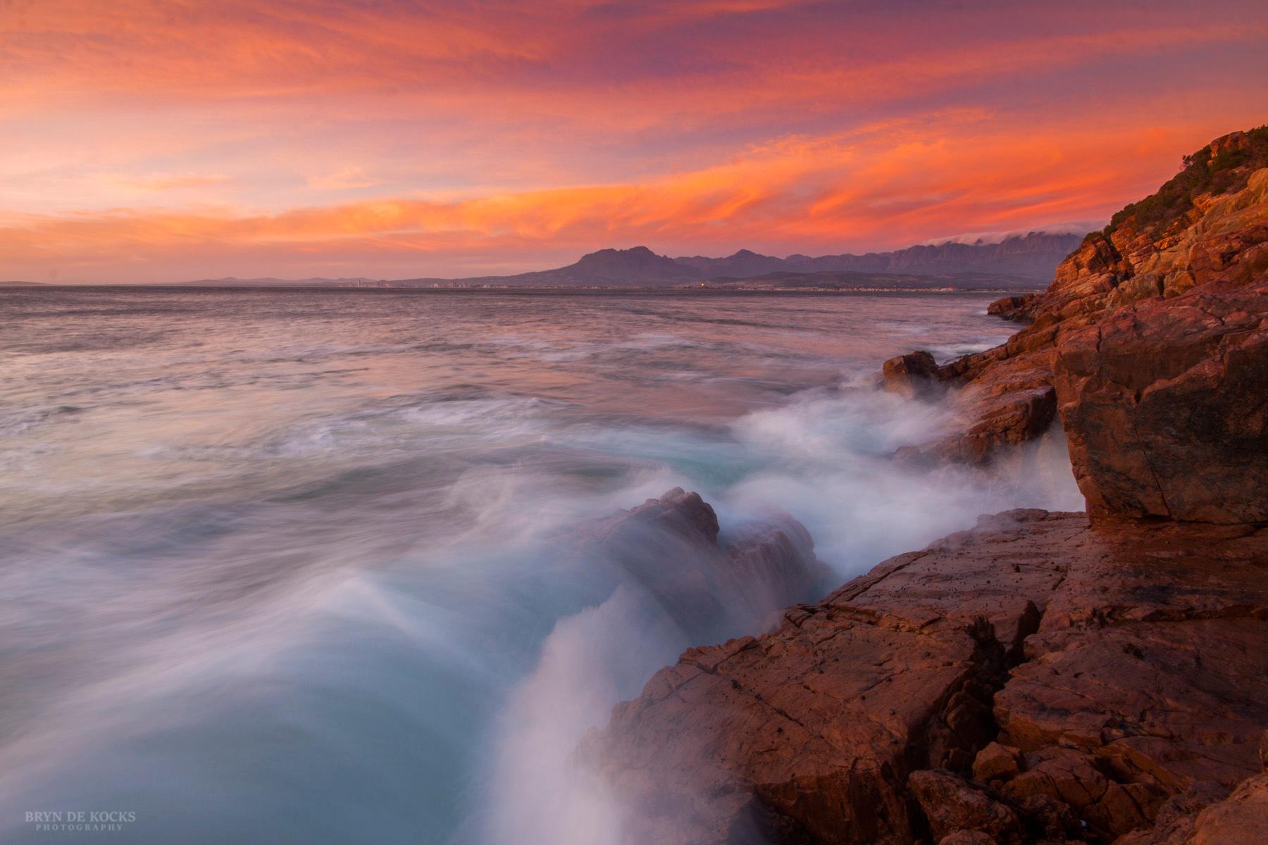 Vibrant Sunset near Gordon's Bay