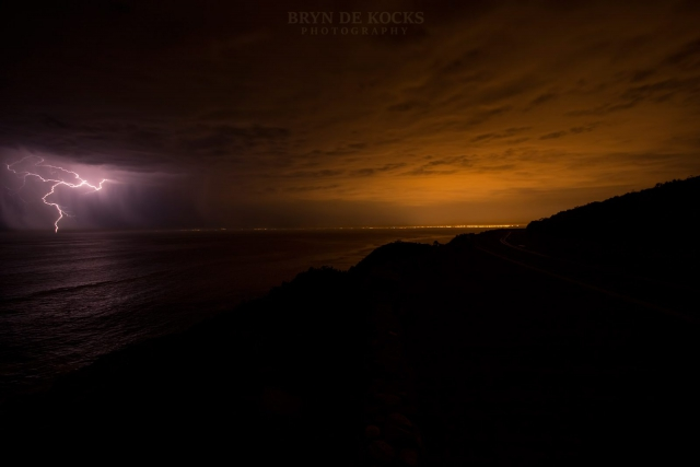 lightning false bay