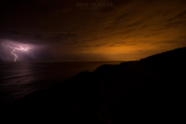 lightning false bay