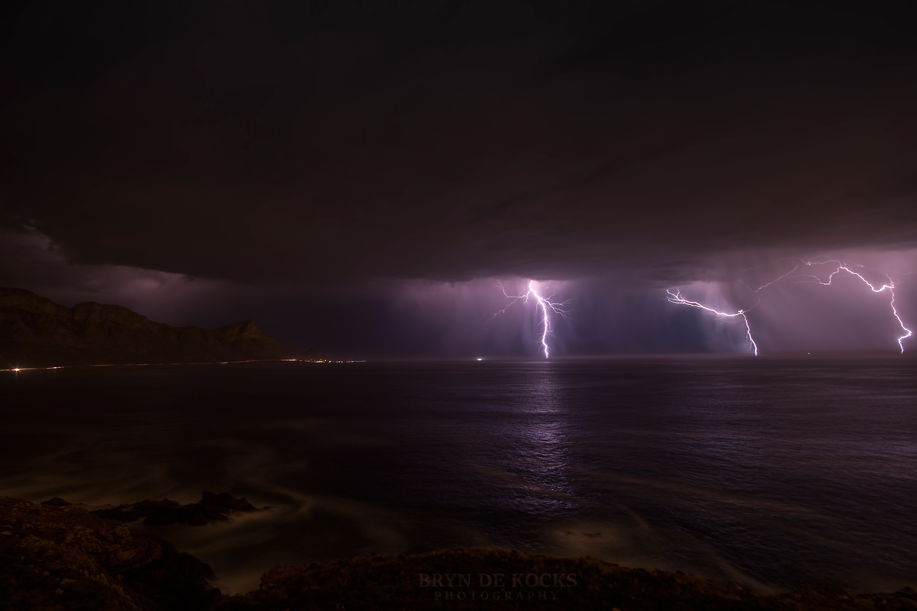 lightning storm cape town