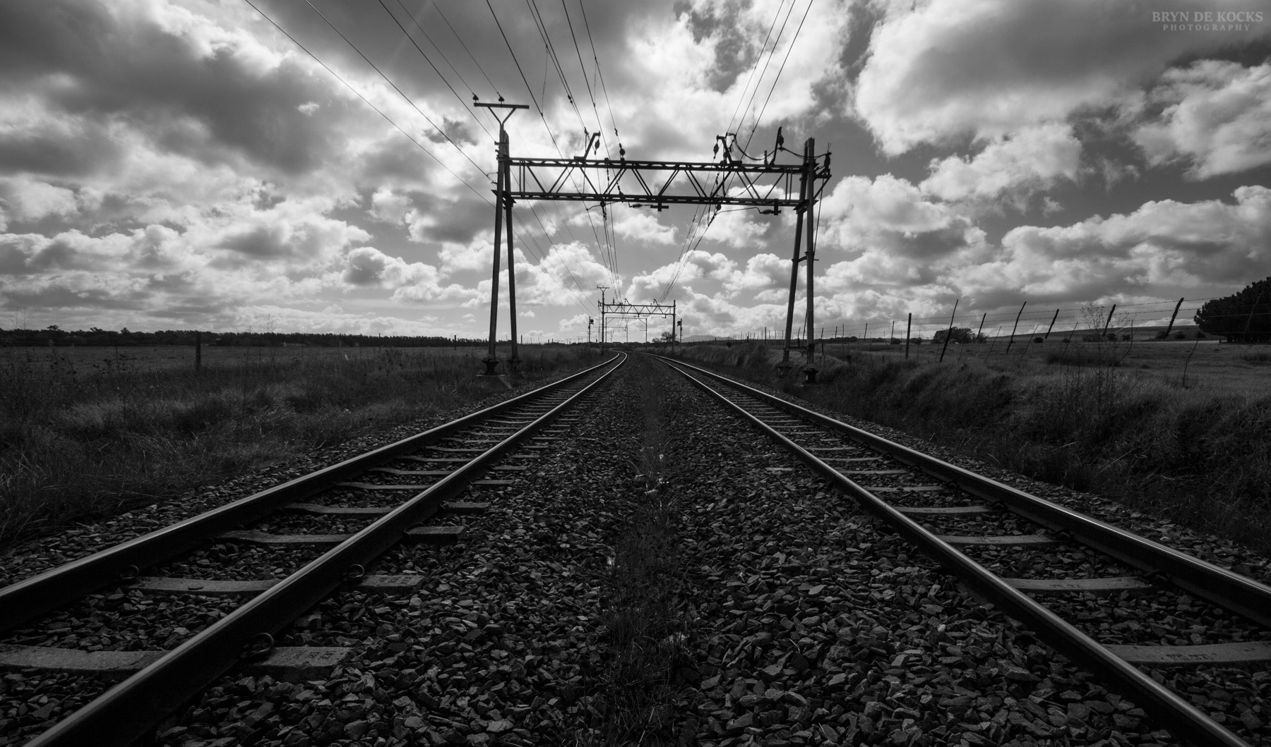 Black And White Railroad 11x85 1