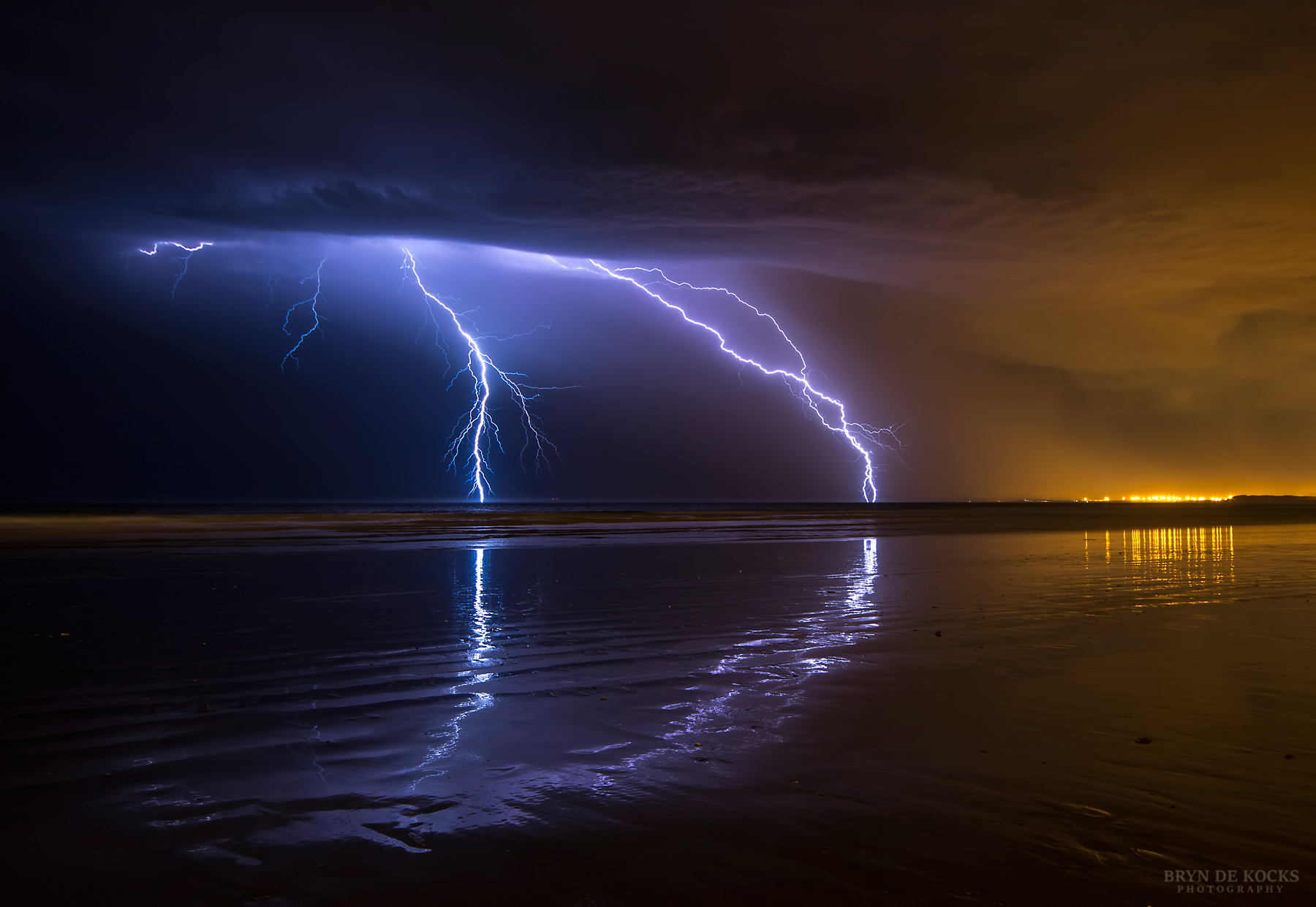 Beach In Storm Lightning: Chasing Lightning In Cape Town 12 & 13 February