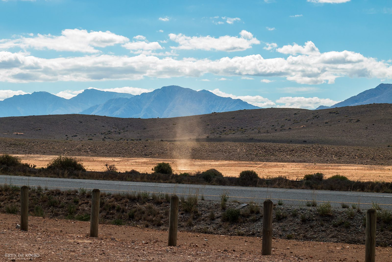 Dust devil in the Klein Karoo